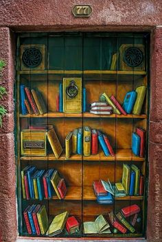 Rua de Santa Maria, Funchal - Art of Open Doors project - projecto Arte de Portas Abertas  No. 77 - Tasca Literária Dona Joana Rabo de Peixe - Painting by Marcos Milewski