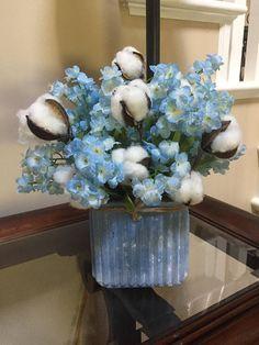 Large silk flower arrangement french garden hydrangea peony beautiful shabby chic arrangement soft blue silk flowers mightylinksfo