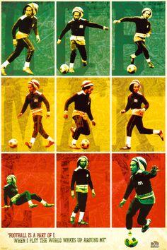 Bob Marley - Football Pôsters na AllPosters.com.br