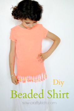 DIY Beaded Shirt Tutorial from Crazy Little Projects