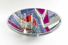 Bespoke kiln-formed glass bowl. www.jovincent.com Kiln Formed Glass, Bespoke, Decorative Bowls, It Cast, Colours, Decorations, Texture, Collection, Taylormade