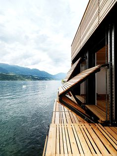 doors roll down to create a deck