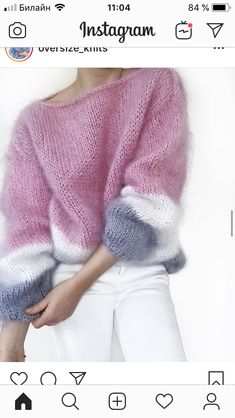 Ideas For Knitting Sweaters Inverno Sweater Knitting Patterns, Hand Knitting, Knitting Sweaters, Knitting Yarn, Mohair Sweater, Knit Fashion, Knitting Needles, Cute Shirts, Sweater Weather