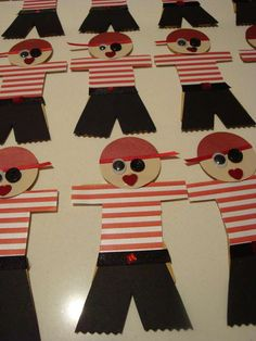Them be cute enough to use on September Internationational Talk Like Pirate Day, by golly! Pirate Day, Pirate Birthday, Pirate Theme, 3rd Birthday Parties, Kindergarten Crafts, Preschool Themes, Classroom Crafts, Preschool Crafts, Pirate Preschool