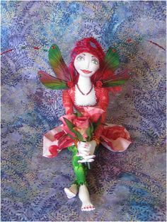 june flower fairy rose ooak art doll shop bohobutterfly dolls