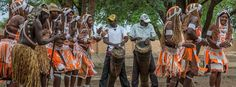 Local drummers and dancers performing for Kayova River Lodge guests