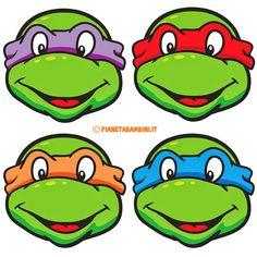 Maschere delle Tartarughe Ninja da ritagliare