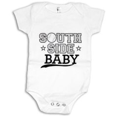 Psychobaby Southside Chi Baby One-Piece - never too early to pick a side! #WhiteSox