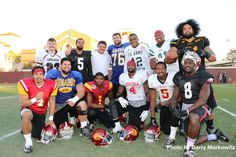 The 2013 USC senior class wore their high school jerseys to practice today