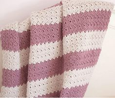 Duchess of Cambridge Crochet Blanket | Give your yarn the royal treatment by working up this gorgeous crochet afghan pattern.