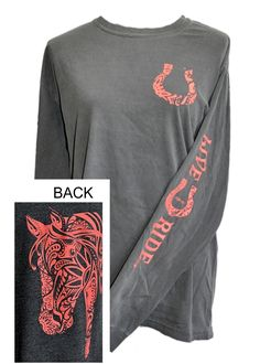 BOHO Horse LONG Sleeve T-shirt Women Horse Tee Shirt Fashionable Women Horse - Horse Shirts - Trending and fashionable horse shirts for sales - BOHO Horse LONG Sleeve T-shirt Women Horse Tee Shirt Fashionable Women Horse Tee Shirt Country Girls Outfits, Country Dresses, Cowgirl Outfits, Equestrian Outfits, Cowgirl Clothing, Cowgirl Fashion, Country Girl Shirts, Riding Outfits, Equestrian Gifts