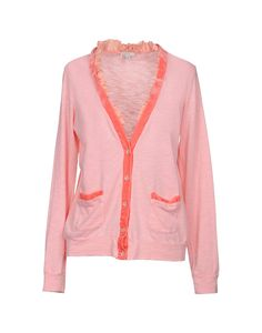 Velvet<br>Jersey<br>Frills<br>Solid color<br>V-neck<br>Lightweight sweater<br>Long sleeves<br>Front closure<br>Button closing<br>Multipockets<br> Clu, Cardigans For Women, Velvet, Sweaters, Pink, Shopping, Clothes, Collection, Style