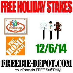 FREE Holiday Yard Stakes for Kids at Home Depot – FREE Home Depot Kids Workshop for Christmas