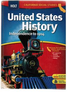 Holt United States History: Independence to Student Edition, Grades Heavy wear, pages unmarked. Social Studies Book, Vocabulary Builder, Reading Help, California History, Us History, Me On A Map, United States, Teacher, The Unit