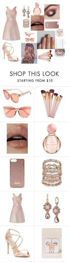 """""""Gold N' Roses"""" by makennadelaneypowell on Polyvore featuring BP., Lime Crime, Bulgari, Ted Baker, Palm Beach Jewelry, Miss Selfridge, Marchesa, Steve Madden and OK Originals"""