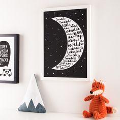 Twinkle Twinkle Moon Print – Hippo & Co.