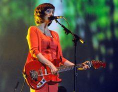 My Bloody Valentine's Bilinda Butcher at Coachella. Love that guitar.