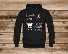 Wonderful design for all cat lovers! T-Shirts, Hoodies & more. You get it here: https://shop.spreadshirt.com/eggs-shirts/1006551460?q=I1006551460    #cat #lovers #moon #tshirt #hoodies #love