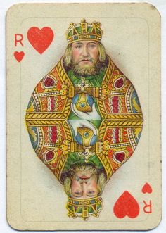 King of Hearts  & King of Cups  are the sameTarot Card Meanings Keywords:  Upright: Emotional balance and control, generosity  Reversed: Emotional manipulation, moodiness, volatility