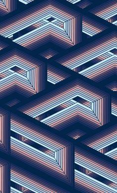 #geometric #pattern #print #gradient #blue @oozefina