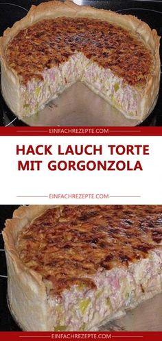 Hack Lauch Torte mit Gorgonzola😍 😍 😍