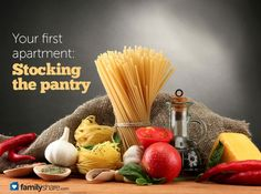 Your first apartment: Stocking the pantry @Emily Eubanks Looks like I know what we're doing our first Saturday night in the apartment...