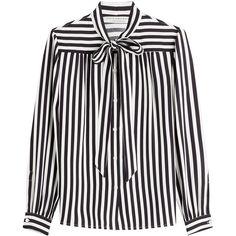 Philosophy di Lorenzo Serafini Striped Blouse featuring polyvore women's fashion clothing tops blouses shirts stripes white striped top white shirts shirt top stripe shirt shirt blouse