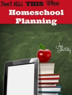 Don't Miss THIS When Homeschool Planning