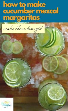 These are the most popular margaritas on ¡Hola! Jalapeño. Made with fresh-pressed cucumber juice, tequila, lime, and agave they are super refreshing. Make a pitcher for sipping on a warm summer evenings. #margaritas #cucumbermargaritas #MexicanRecipes #mezcal #cucumber | holajalapeno.com @holajalapeno