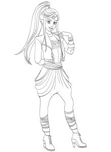 Jordan Coloring Page Descendants Wicked World 2 Pages