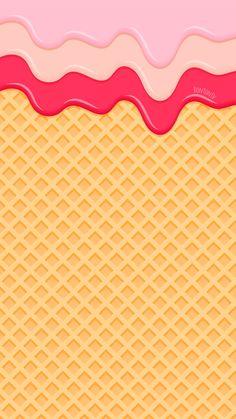 Phone Wallpapers HD ice cream cone waffle cute pink Watercolor by BonTon TV Full HD – hintergrund Cream Wallpaper, Food Wallpaper, Painting Wallpaper, Cute Wallpaper Backgrounds, Tumblr Wallpaper, Iphone 7 Wallpapers, Cute Wallpapers, Ice Cream Background, Cute Screen Savers