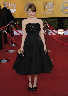 SAG Awards - Emma Stone in an Alexander McQueen dress (AP Photo/Chris Pizzello)
