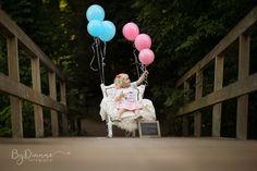 Big sister aankondiging, krijtbord, ballonnen