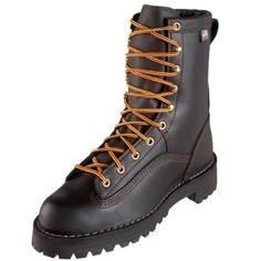 Danner Women`s Rain Forest Black Uninsulated W Work Boot,Black,9 M US