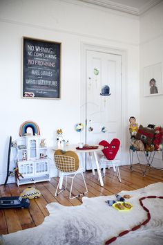 the boo and the boy: eclectic kid room with beautiful cuddles.