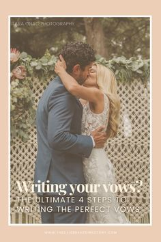 There is no 'wrong' way to write your vows – whatever special words pour out of your heart and onto the paper will be flawless. However, there are ways to break through the writer's block and uncover the gems of your relationship, ready to share with all your loved ones. | vows | writing vows | wedding vows | wedding planning | planning a wedding | wedding trends | 2021 wedding | wedding ceremony | bride | bride to be | how to write vows | vows tips | Wedding Trends, Wedding Tips, Diy Wedding, Wedding Ceremony, Destination Wedding, Wedding Planning, Wedding Readings From Literature, Writing Vows, Special Words