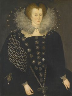 Circle of Marcus Gheeraerts the Younger | Lot | Sotheby's  PORTRAIT OF ANNE (NÉE HOPTON), LADY POPE (1561-1625), FORMER WIFE OF 3RD BARON WENTWORTH, AND LATER WIFE OF 1ST EARL OF DOWNE bears inscription upper right: ANN HOPTON WYFE TO/ HENRY LORD WENTWORTH.