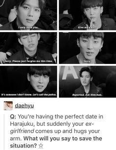 Bap being cheesy kpop funny<<<<< I only pinned it for the last two reactions. XD