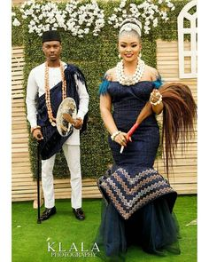 Chiji and Irene's Royal Wedding in Lagos Nigeria ~ My Afro Caribbean Wedding Nigeria Zulu Traditional Wedding Dresses, South African Traditional Dresses, Couples African Outfits, African Wear Dresses, African Wedding Attire, African Attire, Igbo Bride, Igbo Wedding, African Lace Styles