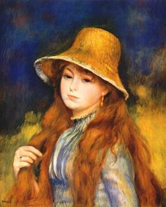 Pierre-Auguste Renoir: Girl in Straw Hat, 1884