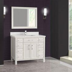 Studio Bathe - Calais 42 in. White Vanity with Mirror