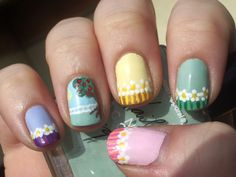 Easter Spring Nails ♥ Source: Emily's Nail Files