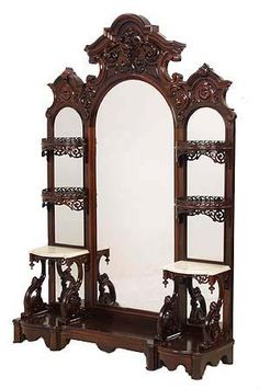 Rare Belter Rosewood Rococo Victorian Etagere By John Henry Belter, NYC c. 1850