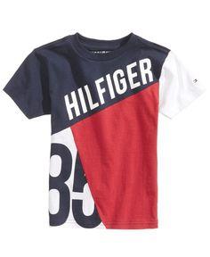 Tommy Hilfiger Graphic-Print Cotton T-Shirt, Big Boys Kids - Shirts & Tees - Macy's Tommy Hilfiger Outfit, Polo T Shirts, Kids Shirts, Cool Shirts, Printed Shirts, Printed Cotton, Camisa Polo, Colourful Outfits, Swagg