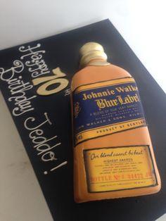 3D Johnnie Walker Blue Label cake