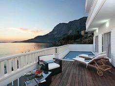 Luxuriöse Ferienvilla in Kroatien direkt am Strand Terrasse