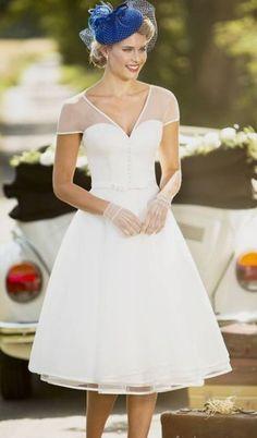 111 Elegant Tea Length Wedding Dresses Vintage 91