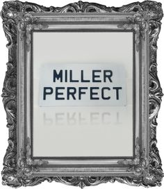 'Miller Perfect' Vintage Style Metal Plate