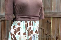 Re-purposing: Women's Knit Shirt into Dress | Make It and Love It