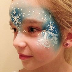Elsa face paint by Naztrida, via Flickr